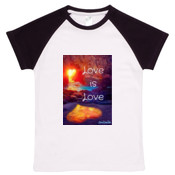 Love is Love - Organic Baby Raglan T