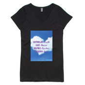 Birthplace Earth - Womens V-Neck 100% cotton